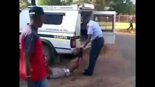 South African Police Brutality 2011 in Vaalwater news24.flv