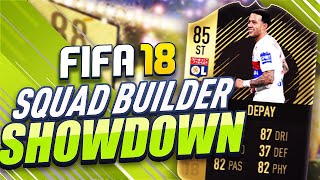 SQUAD BUILDER SHOWDOWN VS AJ3!!! STRIKER DEPAY! FIFA 18 ULTIMATE TEAM