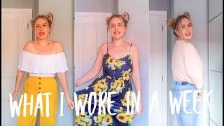 WHAT I WORE IN A WEEK / A WEEK OF OUTFITS (WITH A CONFESSION)