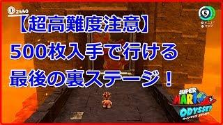 【マリオオデッセイ】クリア後500枚入手後のラストステージ【超高難度】