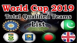ICC worldcup 2019 qualified teams list | 10 teams qualified | india  Afghanistan  West Indies