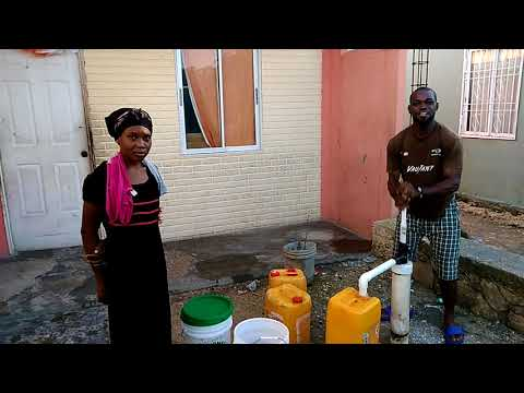 Water for modern houses screwed up in Haiti