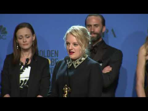 Elisabeth Moss & 'The Handmaid's Tale'  Golden Globes 2018