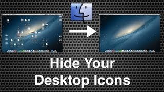 Hide Desktop Icons (Including Hard Drives) On Mac OS X