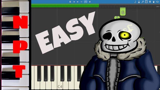 Megalovania Easy Piano Tutorial Undertale Youtube