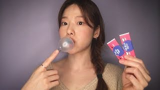 ASMR 호불호+자극주의!! 풍선껌 오물오물😚│수다와  입소리 조금!│Gum Chewing, Blowing bubbles, Extreme sounds│Whispering