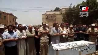 تشييع جنازة «شهيد الشيخ زويد» ببنى سويف