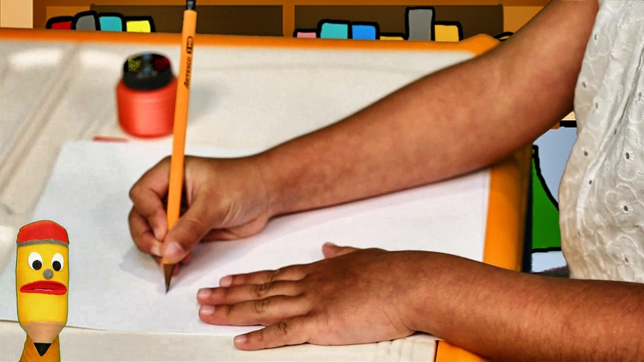 Posición Correcta para Escribir - Aprendemos a escribir con Jack el lápiz escritor