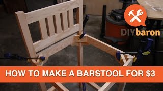 In this video I take inspiration from Ana White (http://www.ana-white.com/2012/08/plans/vintage-bar-stool) to build a bar stool. I use