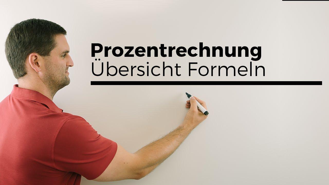 Prozentrechnung Formeln Zu G W Und P übersicht Mathehilfe Online Mathe By Daniel Jung