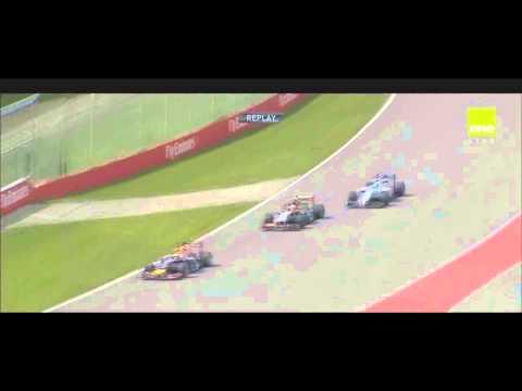 F1 2014 - Massa And Perez Crash In Slow Motion[HD]