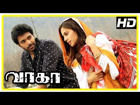 Wagah Tamil Movie   Love Scenes   Vikram Prabhu   Ranya Rao   Karunas   D Imman  