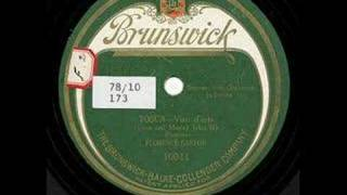 Florence Easton - Vissi d'arte - 1921 - From 78 RPM Record