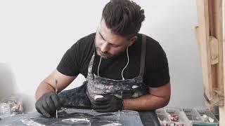 PHILIPP PLEINS custom handpainted jacket by Vmixo