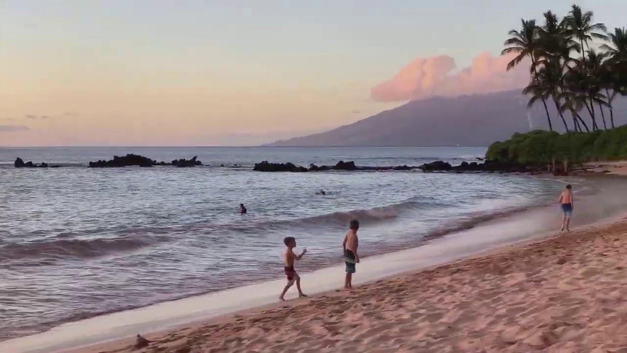Maui Sunset At White Rock Beach You