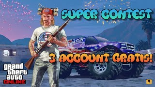 GTA 5 ONLINE | CONTEST: VINCI 3 ACCOUNT GRATIS ESCLUSIVI SU PS3/PS4 XBOX-ONE E PC!