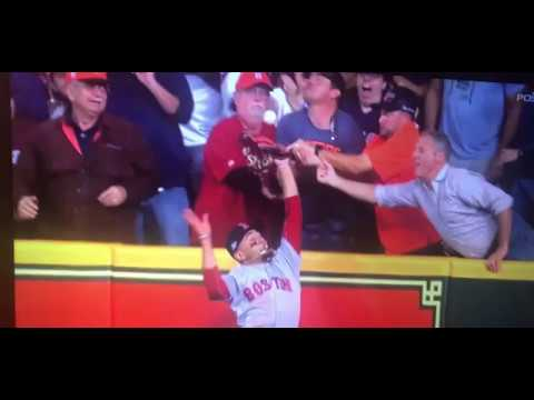 Houston's Morning News - WATCH: Fan Interference My A@! Houston Astros vs Boston Red Sox Game 4