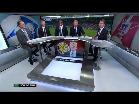 Scotland vs England 2-2 Post Match Analysis by  Ryan Giggs, Harry Kane,Griffiths