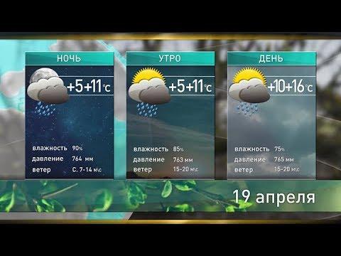 Прогноз погоды на 19.04.2018