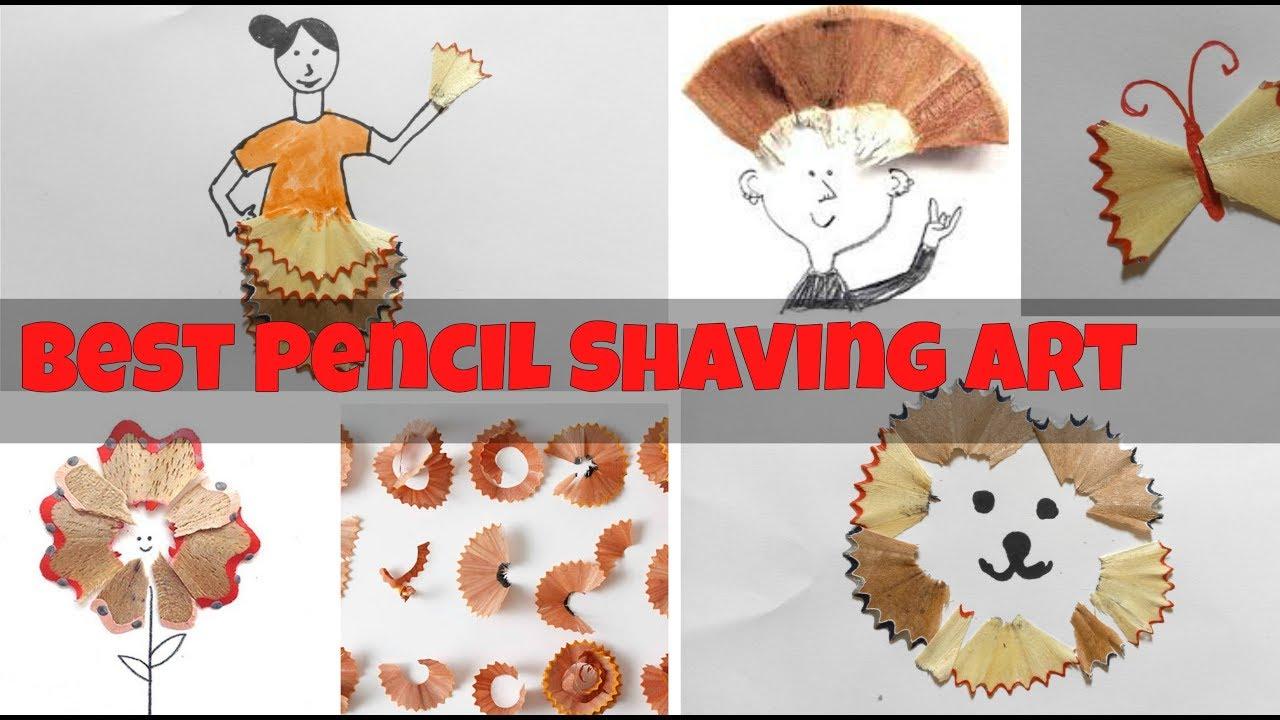 Best of waste - pencil shavings Art - YouTube