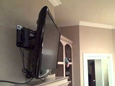 automated tv swing wall mount bracket motorized lcd led
