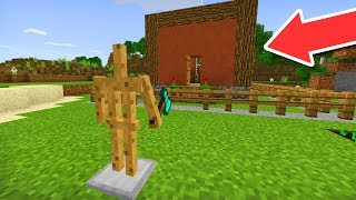 MCPE 1.6 BETA! - SELF BUILDING HOUSE in Minecraft Pocket Edition!