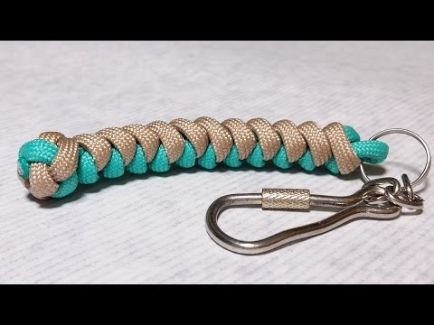 How to make Snake knot paracord keychain by ParacordKnots from YouTube · Duration:  6 minutes 59 seconds