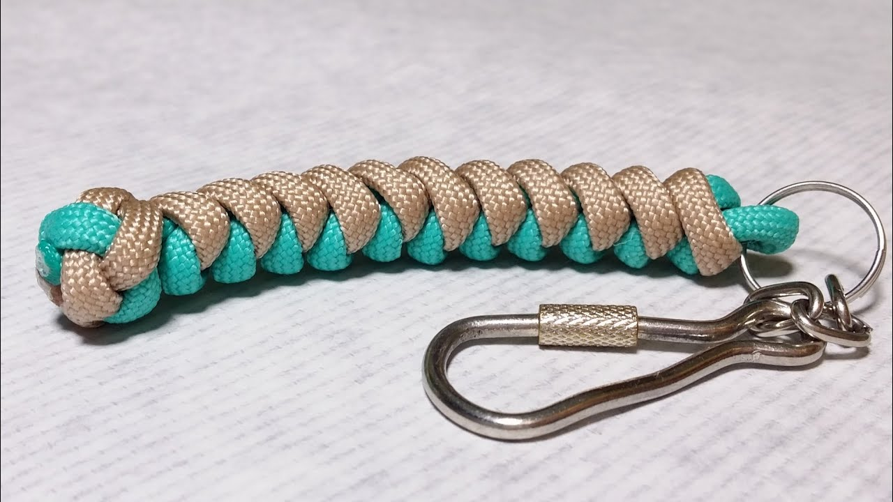 how to make snake knot paracord keychain by paracordknots