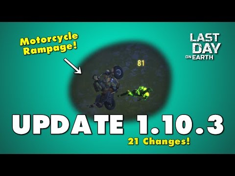 Update 1.10.3 in Last Day on Earth. Motorcycle Chopper Update!