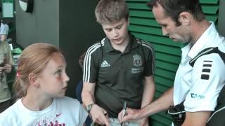 Radek Stepanek signing autographs at Wimbledon 2012