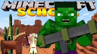 Minecraft School : LITTLE KELLY SHOOTS BANK ROBBERS!!