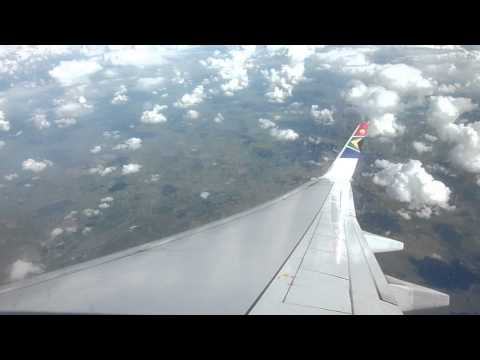 Getting ready to land in Johannesburg