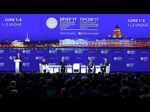 St Petersburg International Economic Forum plenary meeting