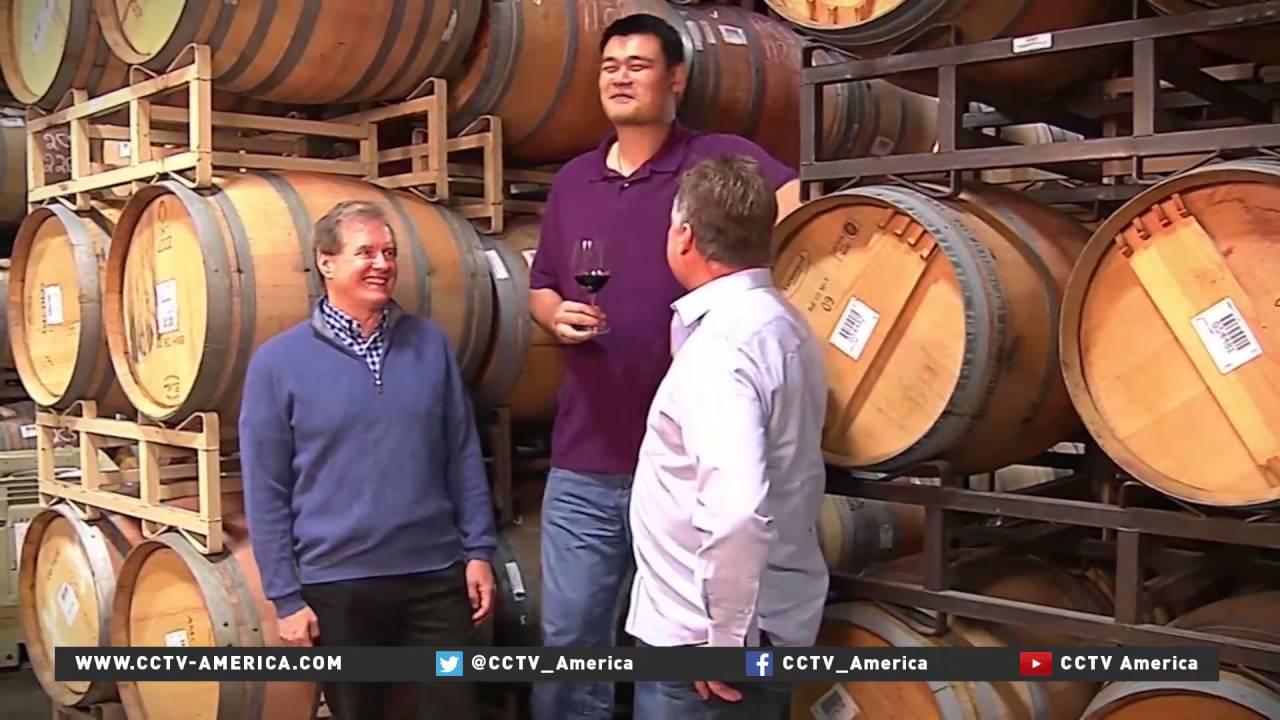 Former NBA Star Yao Ming opens wine tasting room - YouTube