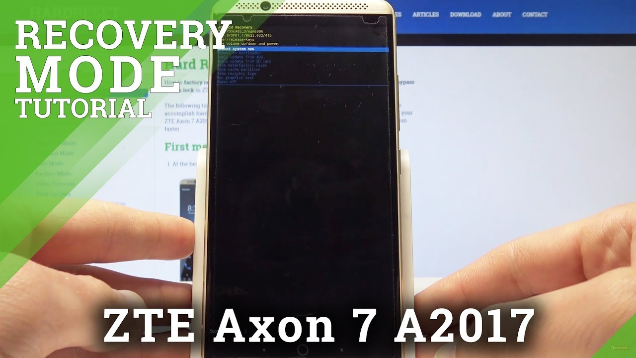 Recovery Mode ZTE Axon 7 A2017 - HardReset info