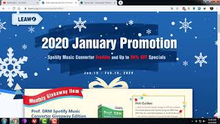 How to get free key Leawo Prof. DRM Spotify Music Converter