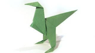 Origami Dinosaur Velociraptor - easy origami - How to make an origami Velociraptor