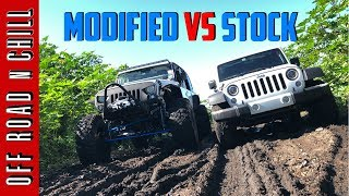 How Good is your Stock Jeep WranglerJK? | Modified Wrangler vs Stock Wrangler Mudding
