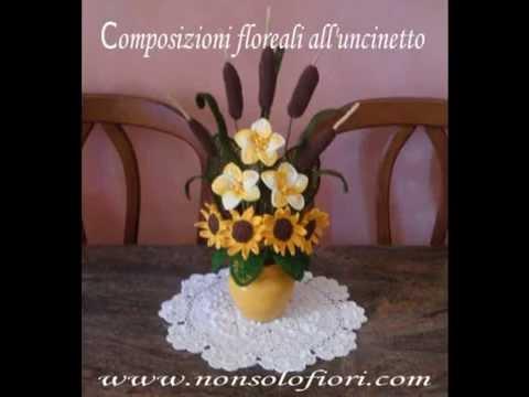 Mazzo Di Fiori Uncinetto.Fiori All Uncinetto Crochet Flowers Youtube