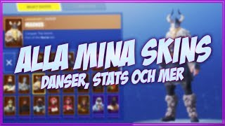 SHOWS ALL MY SKINS ET STATS! Fortnite en Anglais!