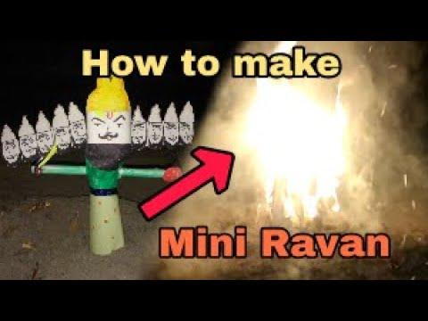 How To Make Mini Ravan at home easily - DIY-||dushera special||