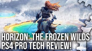 [4K HDR] Horizon: The Frozen Wilds PS4 Pro - Tech Breakdown and Engine Analysis