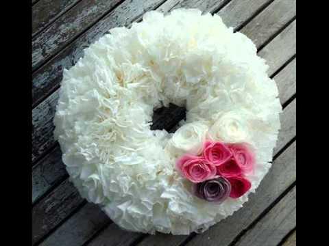 Tissue Paper Craft Tissue Paper Wreath Youtube