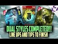 Madden 16 DUAL STYLE MASTER COMPLETED!!! - DUAL STYLE LINE UPS and TIPS!! 94 McCoy and 94 Mangold