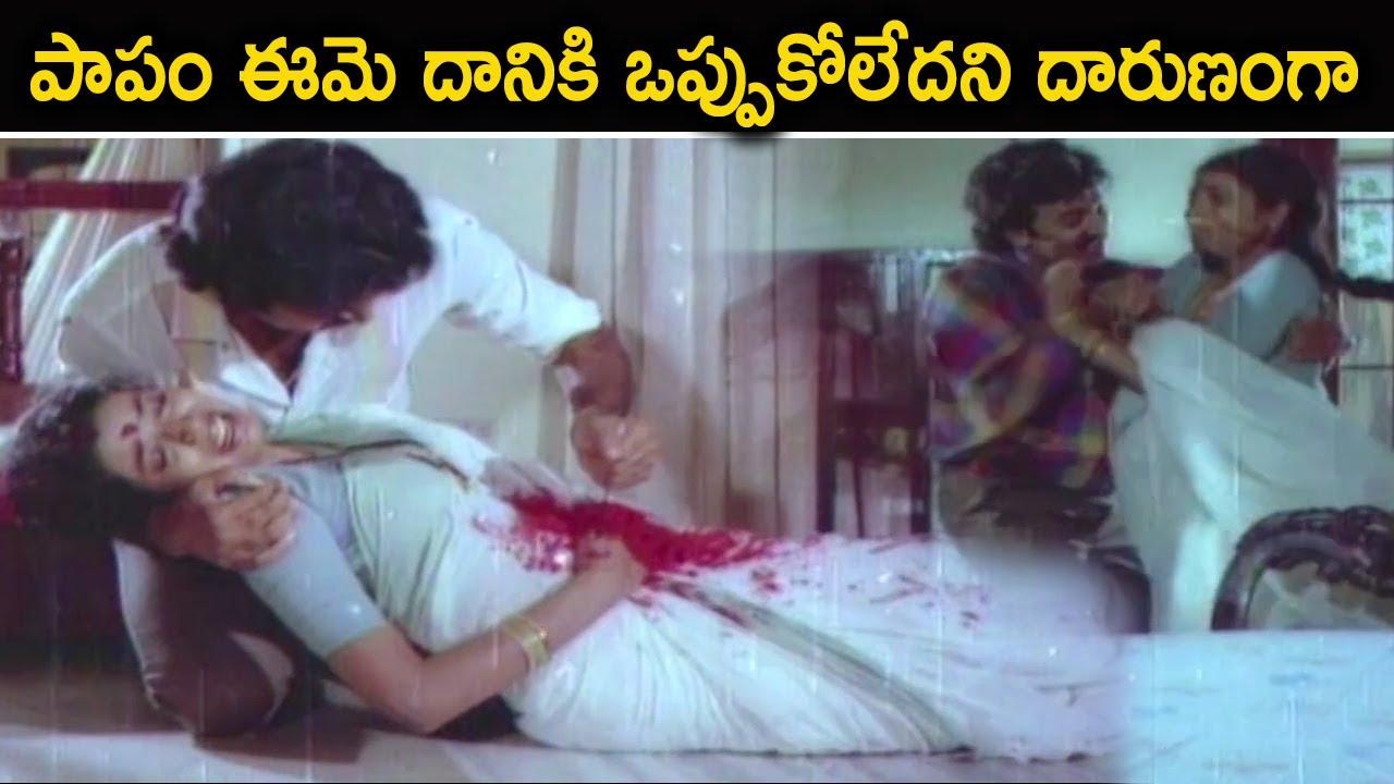 పాపం ఈమె దానికి ఒప్పుకోలేదని దారుణంగా | Rajashaker , Jeevitha Telugu movie intresting Climax Scenes