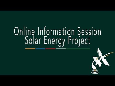 Solar Energy Online Information Session
