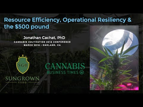 Resource Efficiency, Operational Resiliency & the $500 pound - Cachat - Cannabis Cultivation 2018