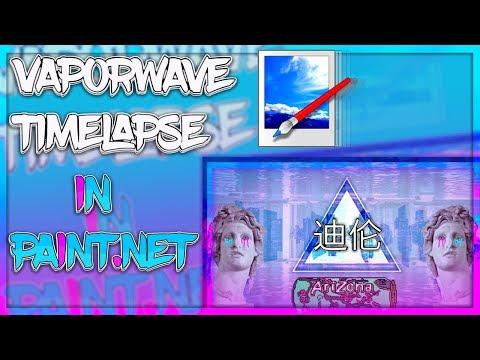 Making Vaporwave/Aesthetic Art in only Paint.net!