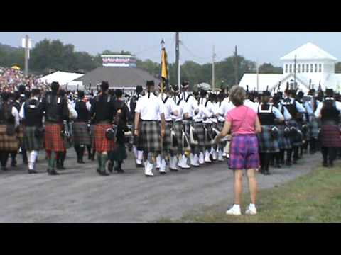 Capital District Scottish Games 2013 Opening Massed Bands, part 1