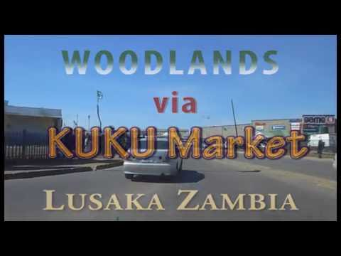 DashCam Lusaka Zambia in a Taxi -  via KUKU Market 10th June 2016
